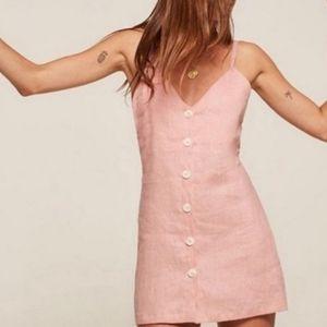 Reformation Kauai linen dress blush pink Size XS